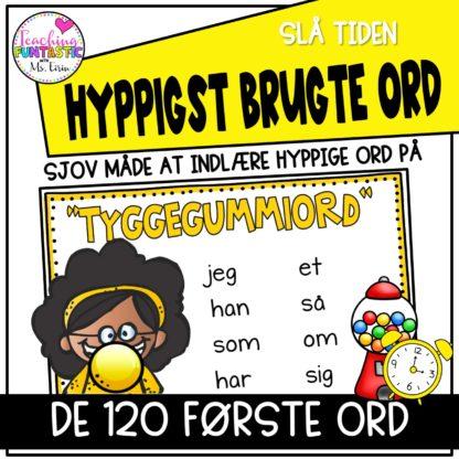 120 hyppigste ord på dansk