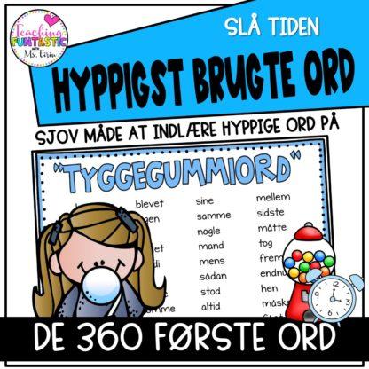 360 hyppigste ord på dansk