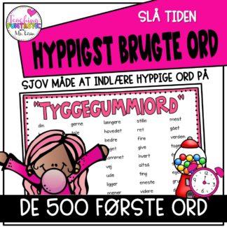 500 hyppigste ord på dansk