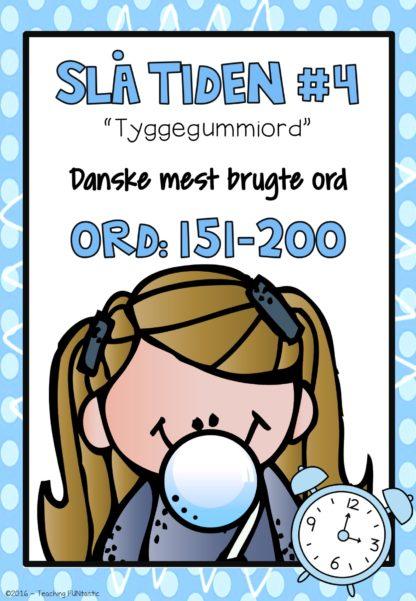 Hyppigste brukgte ord på dansk bog