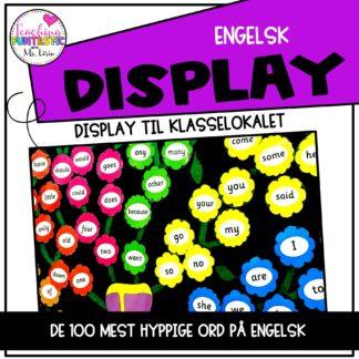 Hyppige ord på engelsk display