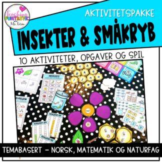 Opgaver om insekter og småkryb aktivitetspakke
