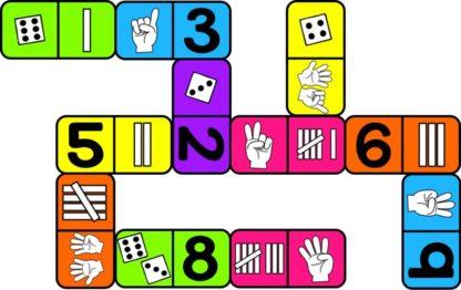 Lære tallene til 10 domino