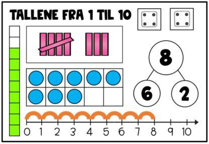 Lære tallene til 10 representere tal