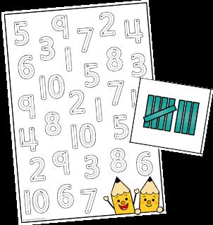 Lære tallene til 10 skrive tal