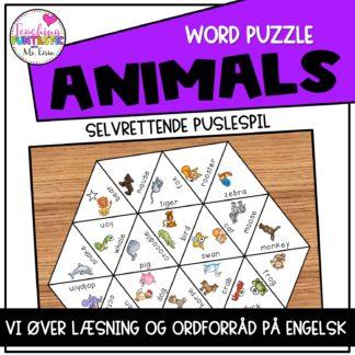 Puslespil engelsk animals