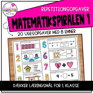 Repetitionsopgave i matematik for 1.klasse