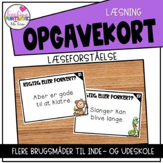 Opgavekort Dansk Lasning