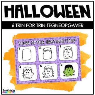 Tegneopgaver Halloween